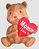 MOTHERS DAY INFLATABLE BEAR HOLDING '' MOMMY I LOVE YOU'' HEART HOLIDAY AIRBLOWN DECORATION