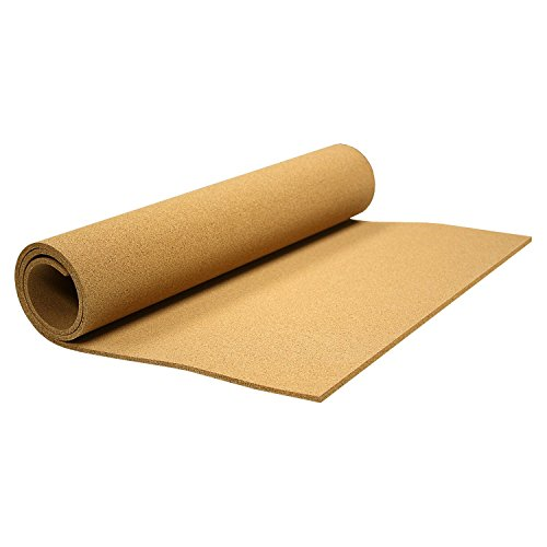 Thornton's Office Supplies 24 in x 48 in x 0.25 Hobby DIY Projects Frameless Shelf Liner & Drawer Liner Cork Roll Bulletin Board, Natural