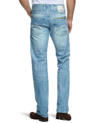 G-STAR RAW Herren Attacc Straight Jeans Blau (Lt Aged 4862-424) 5PCcaz0