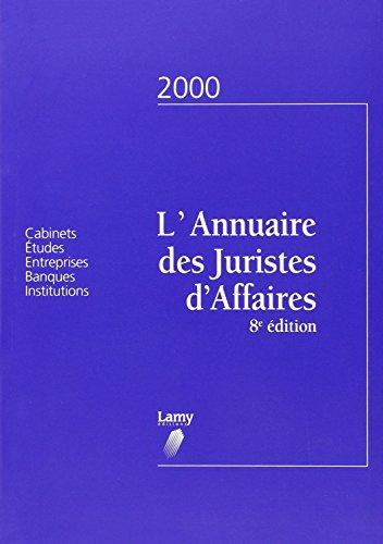 Price comparison product image Le memo des juristes d affaires l'annuaire des juristes d'affaires 2000 huitième édition