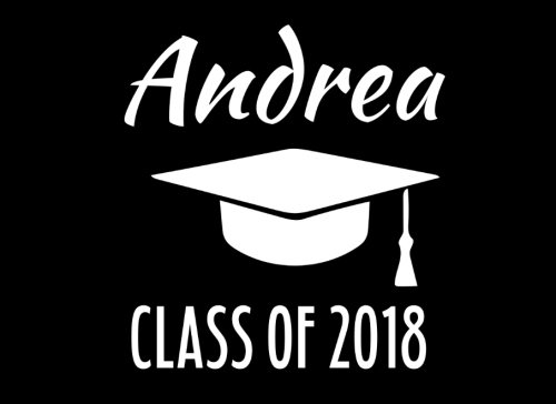 (Andrea Class Of 2018: Graduation Cap Guest Book For Party, Personalized Gift. Graduate Advice or Autograph Book Unlined. (Tassel)