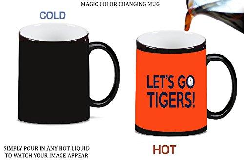Lets Go Tigers Clemson 2017 Magic Color Morphing Ceramic Coffee Mug Tea Cup by Debbie's Designs