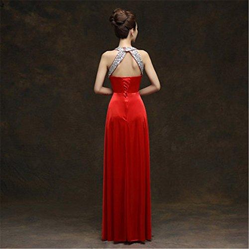 Rot Drasawee A Kleid Damen Linie TTAxR6q