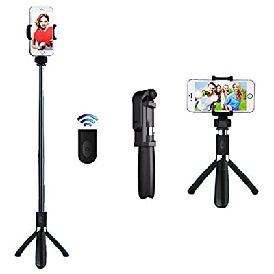Selfie Stick,Rymbo Selfie Stick Aluminum Tripod with Detachable Bluetooth Remote Camera Shutter for iPhone,Samsung Galaxy Nexus Moto Android iOS Smartphones