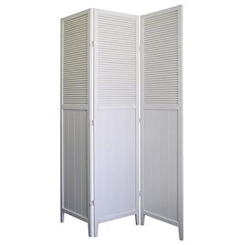 Ore International 3 Panel Solid Room Divider White
