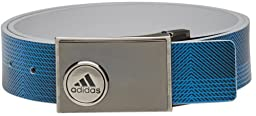 adidas Golf Men\'s Reversible Ball Marker Printed Belt, Stone/Shock Blue S, One Size