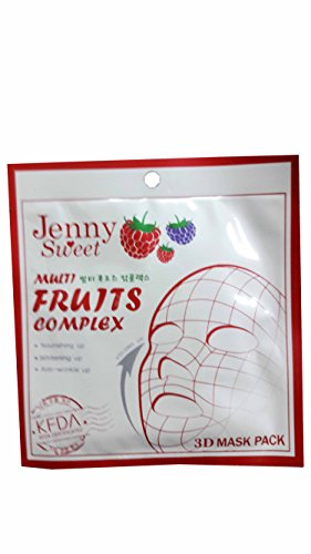 2 packs of Jenny Sweet Multi Fruits Complex 3D Mask Pack. Nourishing up, Whitening up, Anti-wrinkle up. (25ml/ pack) (Tx System Retinol Cream)