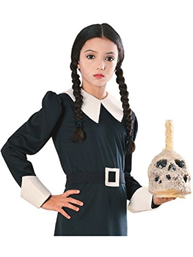 Addams Family Child's Wednesday Costume Wig]()