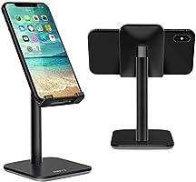 Nulaxy スマホ スタンド ホルダー iphone/ipad/タブレット スタンド 角度調整可能 携帯電話スタンド 卓上 シリコン滑り止め 軽量 便利