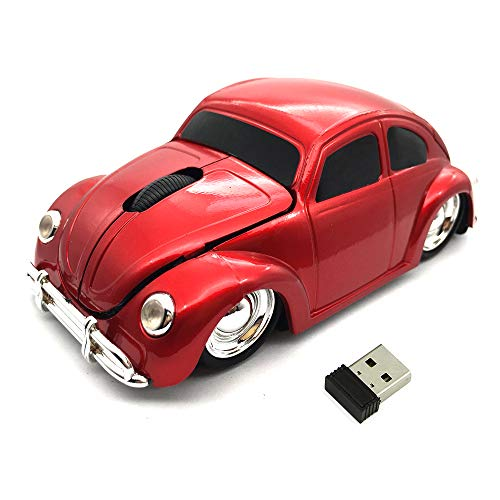 Wireless Car Mouse,Kamouse 2.4G Optical Ergonomic Computer Mouse 1600DPI for PC Laptop Desktop