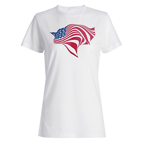 Usa amerika flagge stadtstaat patriot geschenk Damen T-shirt f240f