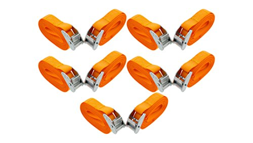 - ABN Lashing Straps with Carry Bag 1in x 12in Foot 10-Pack