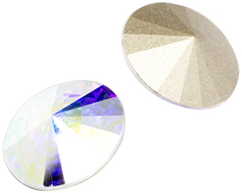 Swarovski - Create Your Style 14mm Ab Rivoli 3 packages of 2 Piece (6 Total Crystals)