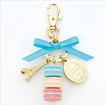 LADUREE Keychain Ring Eiffel Tower Macaron Charm S -BLUE by MARKS