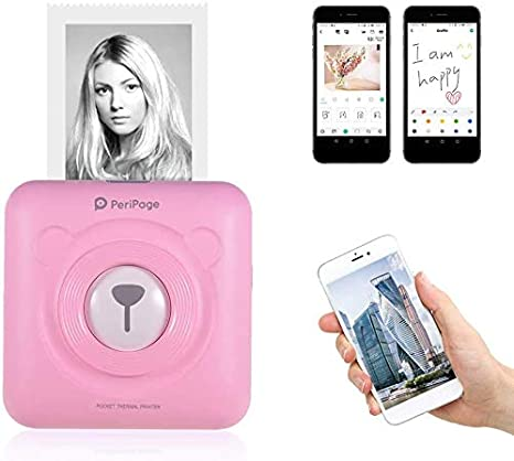 Aibecy Peripage Mini Fotodrucker Wireless Bt Computer Zubehör