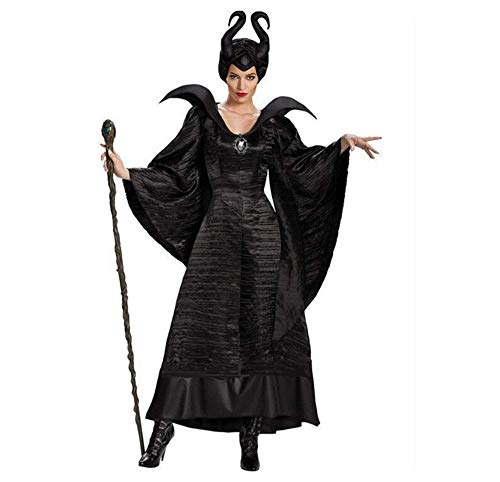 Halloween Costume Maleficent Women Dress Fairytale Black