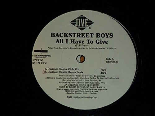 All I Have to Give - Vinyl Records Backstreet Boys