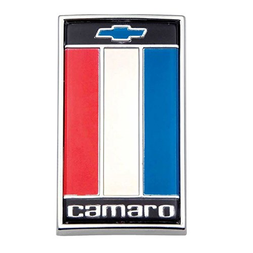 Eckler's Premier Quality Products 33142930 Camaro Header Panel Emblem Red/White/Blue