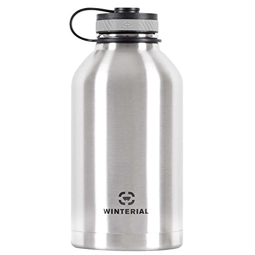 Winterial 64 Oz Insulated Water Bottle Wide Mouth Beer Growler (Stainless Steel) by Winterial (Image #5)