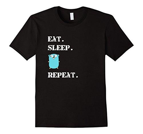 Eat Sleep Go Repeat Programming Light Blue Logo T-Shirt