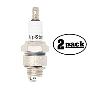 2-Pack Compatible Spark Plug for 1979-1987 Yamaha Snowblower YS828TN, YS828TP, YS828WM, YS828WN, YS828WEN - Compatible Champion L82YC & NGK BP6HS Spark Plugs