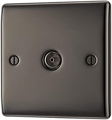 BG NBN60-01 Nexus Metal Single Socket Black Nickel