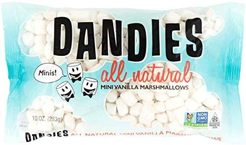 Dandies - Minis - Vegan Marshmallows, Vanilla, 10 Ounce (Pack of 4) by Dandies