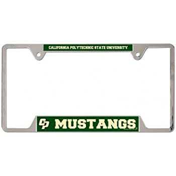Amazon Com Wincraft Ncaa Cal Poly Metal License Plate