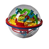 3D Maze Ball Intellect Magic Puzzle Game with 100 Challenging Barriers for Kids and Children Best Gift,Magic Puzzle Game Independent Play for Children 7-15 Years