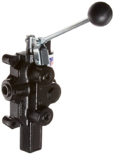 Prince RD-2575-M4-ESA1 Directional Control Valve, Logsplitter, Monoblock, Cast Iron, 1 Spool, 4 Ways, 3 Positions, Motor, Spring Center, Lever Handle, 3000 psi, 20 gpm, In/Out: 3/4