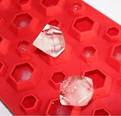 IWOMY 3d Diamonds Gem Cool Ice Cube Chocolate Soap Tray Mold Silicone Party Maker