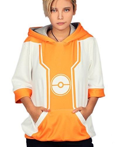 XCOSER Trainer Hoodie Jacket Pullover Sweatshirt Costume for Halloween XXL (Pokemon Trainer Jacket)
