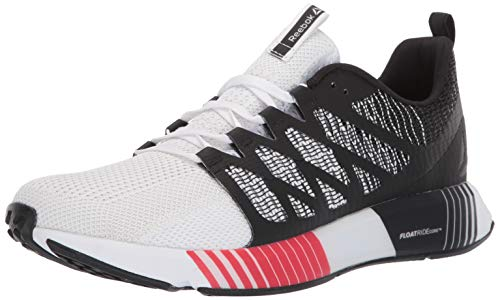 Reebok Men's Fusion FLEXWEAVE CAGE, Black/Primal red/White/Skull Grey, 7.5 M US