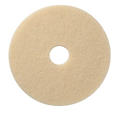 "Americo Manufacturing 430617 Creme Marble Polishing Floor Pad (5 Pack), 17"""