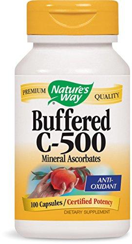 - Nature's Way Buffered C 500 Ascorbate, Capsules, 100-Count