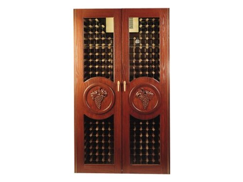 Concord 700-Model White Oak Wine Cabinet with 2 Glass Doors by Vinotemp - Concord Oak Wine Cooler Cabinet