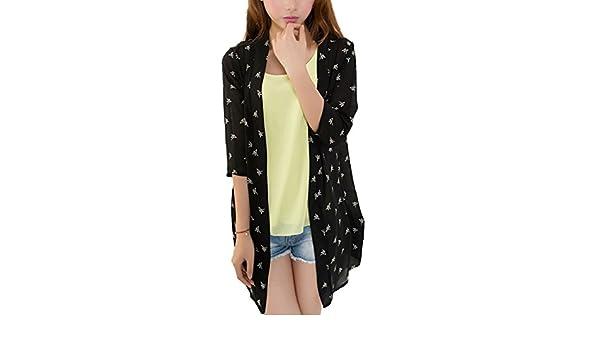 LerBen Women Summer Chiffon Printed Running Shirt VU Sun Protection Coat Cover-up