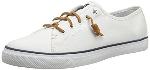 Sperry Top-Sider Women's Seacoast Canvas Fashion Sneaker, White, 6.5 M US