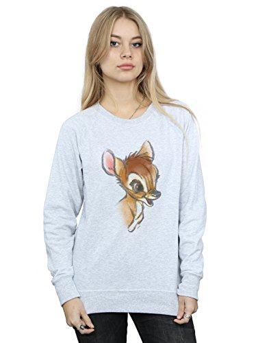 Felpa con Bambi cappuccio Disegno Sport Disney Gris Femme Cnqtgg