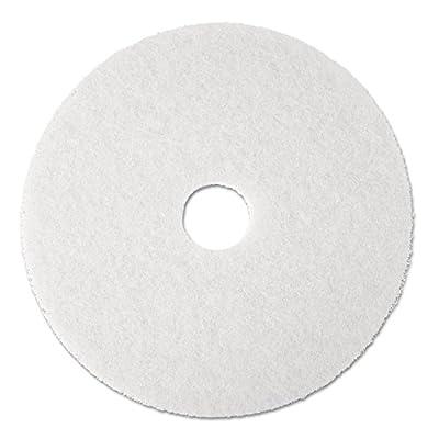 "3M Commercial 8481 17"" WHT POL FLR Pad, White"