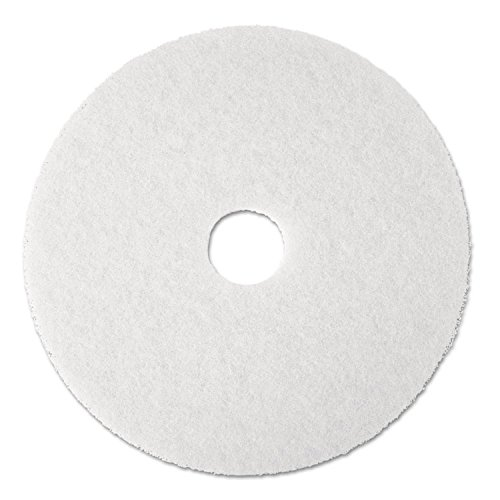 3M Commercial Ofc Sup Div 08481 Super Polish Pad,Removes Scuff/Black Heel,17 in,5/CT,White by 3M (Image #2)