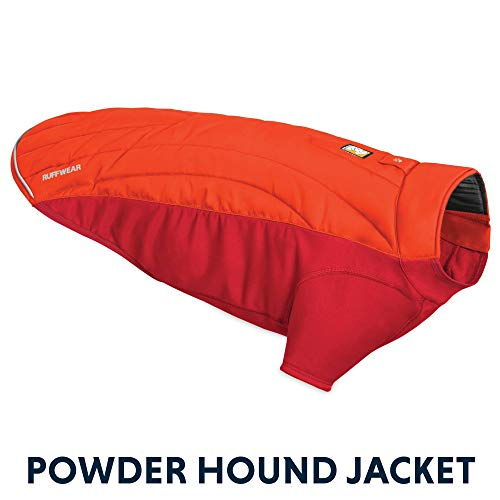 RUFFWEAR - Powder Hound Insulated, Water Resistant Cold Weather Jacket for Dogs, Sockeye Red, Large