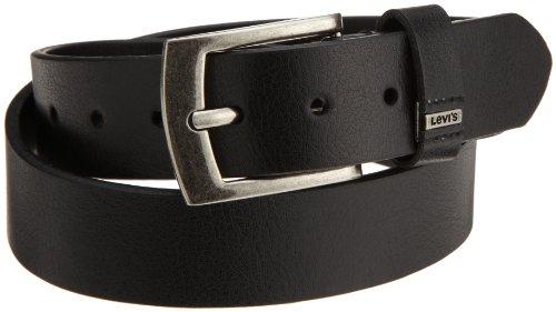 Levi's Men's Belt With Ornament Logo,Black,