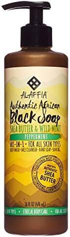 Body Washes & Gels: Alaffia Black Soap