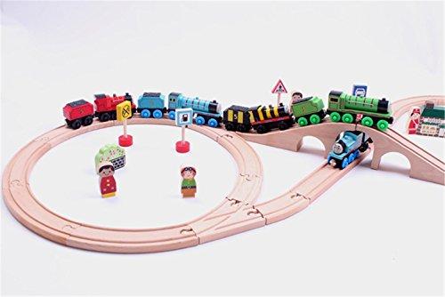 Zhenyuトーマストレイントラック木製玩具トレインレールトラックChangeableの木製トラックの子供クリスマスギフト最適おもちゃの商品画像