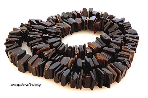 - Pendant Jewelry Making Black Pen Shell 8-9mm Square Cut Slice Tropical Puka Beach Beads 16 Inch Strand