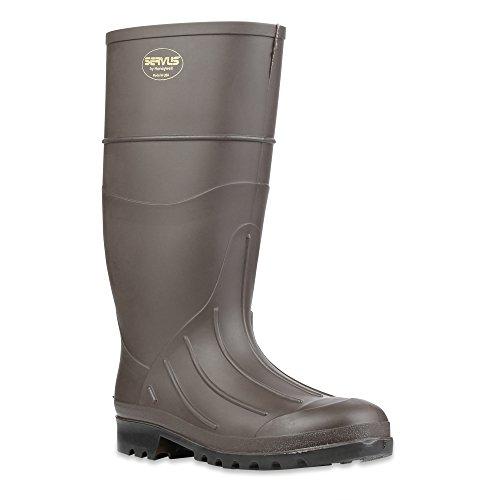 "Servus 15"" PVC Polyblend Soft Toe Men's Work Boots, Brown (18805) 1"