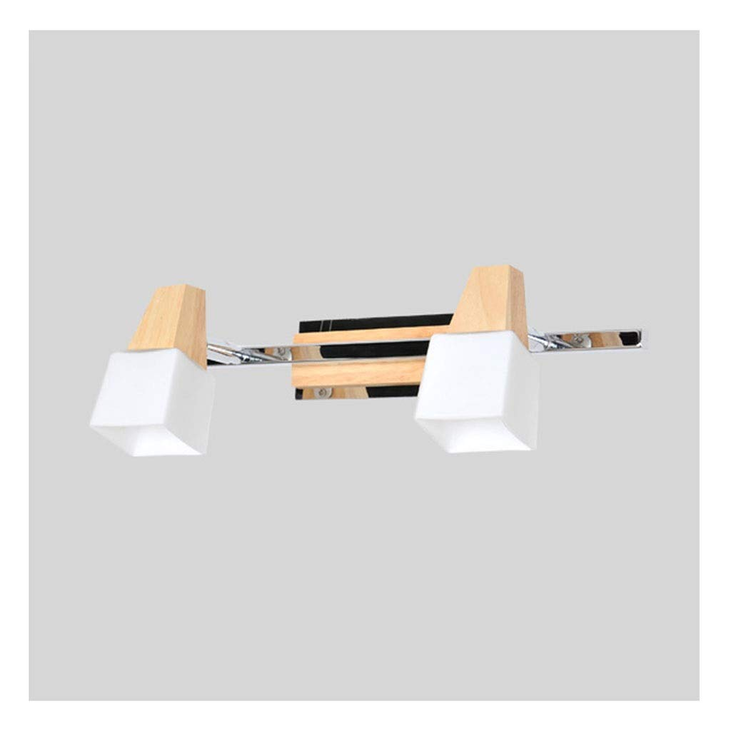 レンズライト Ledミラーヘッドライト寝室の壁ランプ北欧ミニマリスト浴室シャンデリア化粧台化粧台ソリッドウッドミラーキャビネットライト バスルームライト B07RPYJTBL