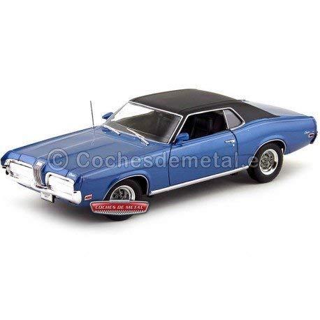 1970 Mercury Cougar XR7 Azul-Negro 1:18 Welly 12521