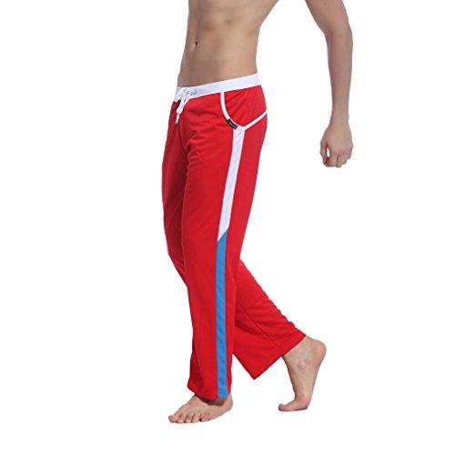 Honghu Casuale Pantaloni Della Tuta Uomo Taglia L Rosso